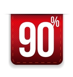 Nine percent off ribbon red vector