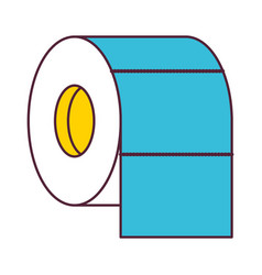 toilet paper roll in color sections silhouette vector image
