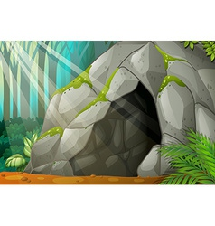 A cave vector image