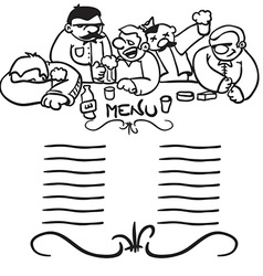 black and white bunch of drunk people vector image