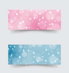 Modern banners with abstract circles and stars vector image vector image