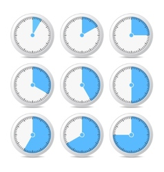 Timer Icons on White Background vector image vector image