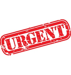 Urgent stamp vector image