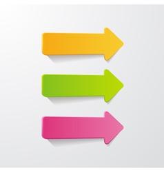 3 arrows vector image