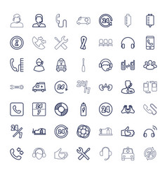 49 support icons vector