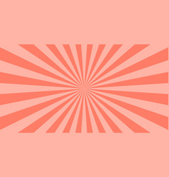 abstract coral sun rays background summer sunny vector image