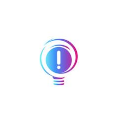 abstract idea symbol lightbulb eureka sign vector image