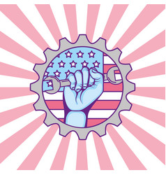 American labor day vector