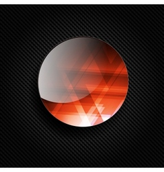 Bacground with carbon and geometric elements vector