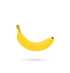 banana icon with shadow vector image