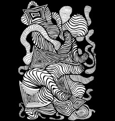 black white decorative abstract pattern many vector image