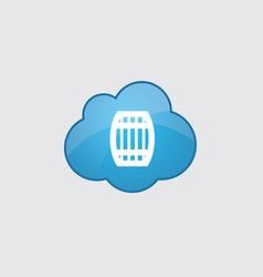 Blue cloud barrel icon vector
