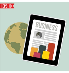 Business news on mobile device - - EPS10 vector image