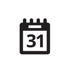 Calendar agenda - black icon on white background vector