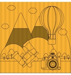 Camera and travel icon design vector