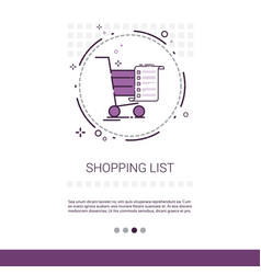 Cart online shopping list web banner with copy vector