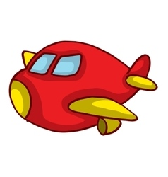 Cartoon red plane for kids design vector
