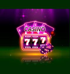 Casino neon cover vector