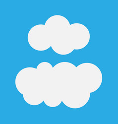 cloud abstract white cloudy set isolated on blue vector image