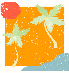 collage modern poster with summer vector image