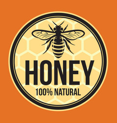 color template for honey packaging design vector image