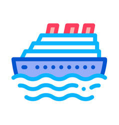 cruise ship icon outline vector image