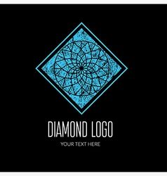 Diamond grunge logo 5 vector