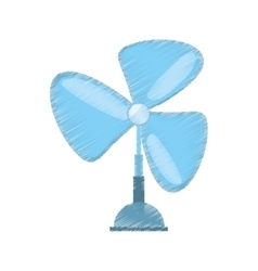 drawing pedestal fan electronic domestic appliance vector image