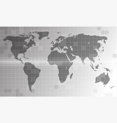 electronic world map vector image