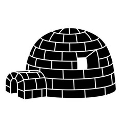 eskimo igloo icon simple style vector image