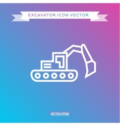 Excavator icon outline logo vector