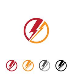 flat thunder vector image