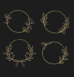 floral wreaths christmas wreaths vector image