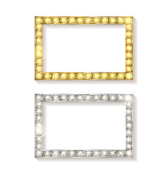 gold and silver picture frames vector image