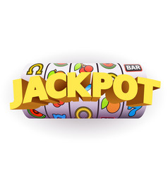 golden slot machine wins the jackpot big win vector image