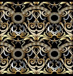 Greek vintage 3d seamless pattern vector