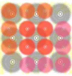 grunge halftone circles background vector image
