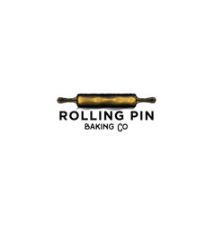 hand drawn rolling pin vintage bakery logo vector image