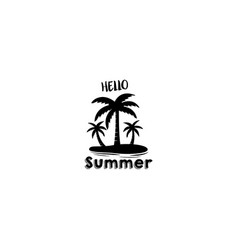 hello summver vector image