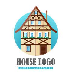 House logo flat design vector