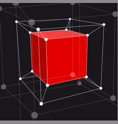 Hypercube 3d object vector