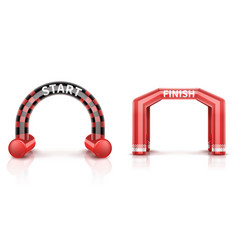 inflatable race finish and start arch with banner vector image