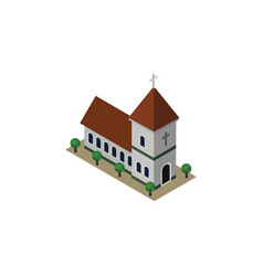 Isolated church isometric chapel element vector