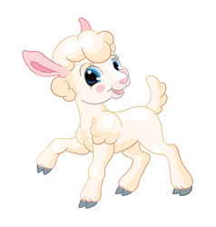 Little cute and funny character lamb vector
