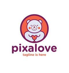 love bear logo vector image