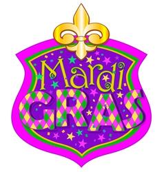 Mardi Gras blazon vector