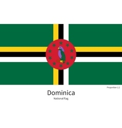National flag of Dominica with correct proportions vector image