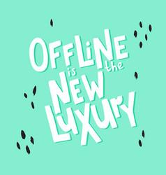Offline lettering-02 vector