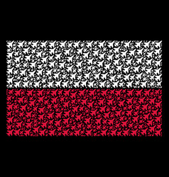 Poland flag pattern of jet fighter items vector