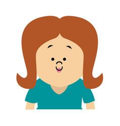 Portrait woman character people cartoon vector